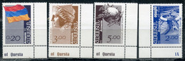 Е150 ARMENIA 1992 203-206 Standard Issue. Architecture. Coats Of Arms. Flags. Post And Philately. Archeology - Armenia