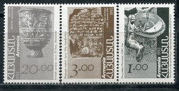 Е150 ARMENIA 1993 207-209 Standard Issue. Architecture. Coats Of Arms. Flags. Post And Philately. Archeology - Armenia
