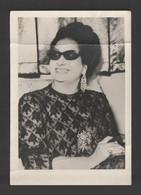 Egypt - Rare - Vintage Original Photo - Umm Kulthum - Famous Singer - As Scan - 13x9 Cm - Briefe U. Dokumente