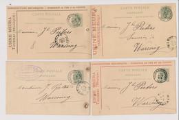 LOT De 5 Cartes Precurseurs Tournai Usine Meura 1888 1889 18 90 1892 Entier Postal Differentes - Tournai