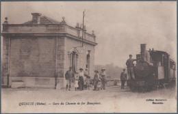 Quincié , Train En Gare Du Chemin De Fer Beaujolais , Animée - Sonstige Gemeinden