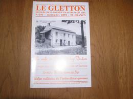 LE GLETTON N° 294 Régionalisme Ardenne Gaume Café Perrard Lez Virton Arlon Militaire Entre Deux Guerre Saga Paysanne - Bélgica