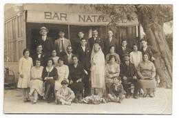 13-TARASCON-SUR-RHONE-CARTE PHOTO-Bar NATIONAL... Animé  Mariage  (E. MEYER Photo) - Tarascon
