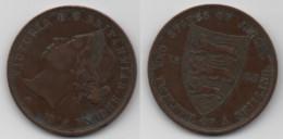 + JERSEY     + 1/12 SHILLING 1888  + - Jersey