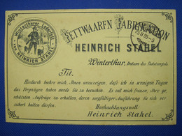 1895 Winterthur Lederfett Privat Brief Post Cover Poste Privée Helvetia Suisse - Covers & Documents