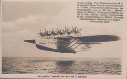 D- Das Riesenwasserflugzeug Do X Startend ( Echtes Foto) - 1939-1945: 2nd War