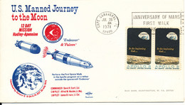 USA SPACE Cover U.S. Manned Journey To The Moon Cape Cannaveral 26-7-1971 Nice Cachet - Covers & Documents