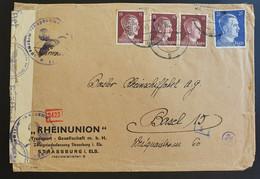 Deutsches Reich 1943, Ausland Zensur Bedarfsbrief - STRASSBURG Elsas - Covers & Documents