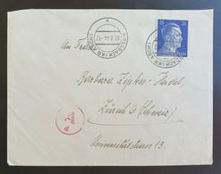Deutsches Reich 1944, Zensur Brief ROSSBACH (ASCH) Gelaufen Zürich - Covers & Documents