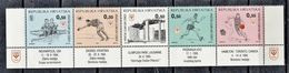 CROACIA 1995 - PRO COMITE OLIMPICO - SELLOS DE BENEFICIENCIA YVERT Nº 39U/39Y** - Roeisport