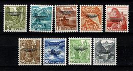 Helvetia 1944  Yv. 227/35**  MNH - Dienstpost