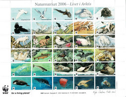 Denmark WWF 2006.  Sheet  With 30 Labels;  Life In The Arctic; MNH(**). - Non Classificati