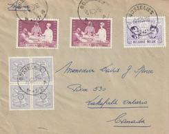 OCB 1038 + 1013 + 849 Op Envelop Naar Canada - GOSSELIES  1957 - Covers & Documents