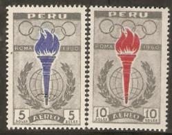 Peru  1961  SG  852-3  Rome Olympics  Unmounted Mint - Ete 1960: Rome