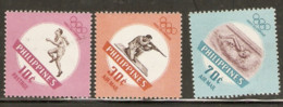 Philippines 1960  SG  862-4   Rome Olympics   Unmounted Mint - Ete 1960: Rome