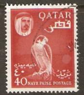 Qatar  1961 SG 31  40np  Falcon  Fine Used - Qatar