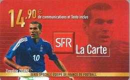 Carte Prépayée -  SFR La Carte - Zidane / 14.90 € - Frankreich