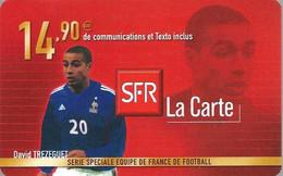 Carte Prépayée -  SFR La Carte - Trézéguet / 14.90 € - Frankreich