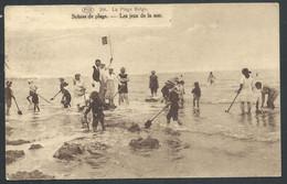 """+++ CPA - Littoral - Plage Belge - """" Les Jeux De La Mer"""" - Scènes De Plage - P.I.B.- Cachet Knokke  // - Non Classificati"""