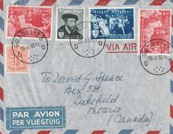 Mengfrankering Op Brief Naar Canada - GOSSELIES 1955 - Covers & Documents
