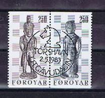 Färöer 1983, Michel-Nr. 82-83 Gestempelt / Cto, - Islas Faeroes