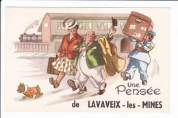 """Lot 2 Cp Dessins Humoristique - """"Une Pesée Et Un Bonjour De LAVAVEIX-les-MINES - Altri Comuni"""