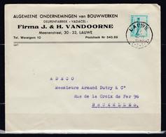 Brief Van Lauwe Naar Bruxelles - Lettres & Documents