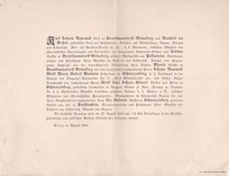 VIENNE WIEN Von LIECHTENSTEIN épouse SCHWARTZENBERG 1889 Format A4 Plié En 2 - Décès