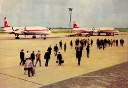 AVIATION CIVILE - EAST GERMANY : INTERFLUG - AVION IL 18 - AIRPORT : BERLIN - SCHÖNEFELD - 1964 - RRR !!! (af627) - 1946-....: Era Moderna
