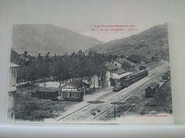 09 3121 CPA - 09 AX LES THERMES - LA GARE - AVEC TRAINS (EDITION LABOUCHE TOULOUSE N° 86) - Estaciones Con Trenes