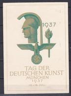 Deutsches Reich - 1937 - Propagandakarte - München Nach Merano Mit Sonderstempel TAG DER DEUTSCHEN KUNST - Gebruikt