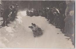 Carte Photo Saint Gervais Les Bains Chamonix (74) Course De Bobsleigh En 1924 - Places
