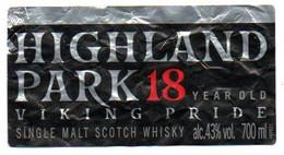 Etichetta Highland Park 18 Year Old 700ml - Whisky