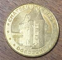 24 CHÂTEAU DE BIRON MEDAILLE SOUVENIR MONNAIE DE PARIS 2012 JETON TOURISTIQUE MEDALS COINS TOKENS - 2012