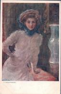 T. Axentowicz Illustrareur, Femme (394) Petit Pli D'angle - Otros Ilustradores