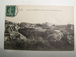 D19D PEROLS Ruines Du Chateau Des Cars - Sonstige Gemeinden