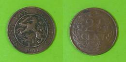 Curacao - 2 1/2 Cents 1947 Used (cu002) - Curaçao