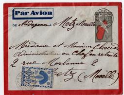 MADAGASCAR. AMBOHIDRAY Sur ENTIER + COMPLEMENT Pour METZ (57) 1948. - Brieven En Documenten