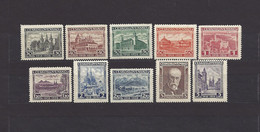 Czechoslovakia 1928 MNH ** Mi 267-276 Sc 142-151 10. Year Anniversary Of The Republic.Tschechoslowakei. C5 - Czechoslovakia