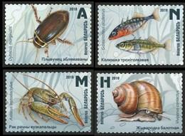 2019Belarus1295-1298Fish Inhabitants Of The Reservoirs Of Belarus6,50 € - Meereswelt