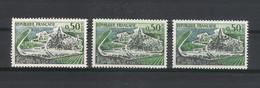 """Y. & T.  N° 1314 + 1314 A + 1314 B  /  50 Ct. COGNAC  /  Variété  """"2 Et 3 Péniches Absentes"""" - Variétés: 1960-69 Neufs"""