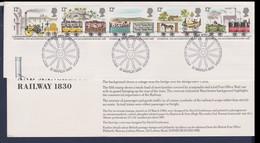 Great Britain 1980 Railways - Cut Off From FDC W/Info Sheet Used (LD14) - 1952-.... (Elisabetta II)