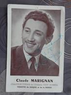 PHOTO DEDICACEE CHANTEUR  CLAUDE MARIGNAN  DE L'ORCHESTRE TONY MURENA - Signed Photographs