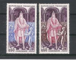 Y. & T.  N° 1497  /  CHARLEMAGNE  /  Variété De Coloris  ( Bleu Au Lieu De Marron ) - Variétés: 1960-69 Neufs