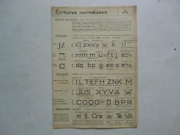 PLANCHE EXTRAITE DE LECONS DE DESSIN INDUSTRIEL Par D. CHEVAIS : Ecritures Normalisées - Planches & Plans Techniques