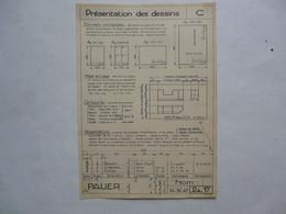 PLANCHE EXTRAITE DE LECONS DE DESSIN INDUSTRIEL Par D. CHEVAIS : Présentation Des Dessins - Planches & Plans Techniques