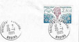 Timbres Sur Lettres 1984 N° 327JO De Sarajevo Oblitération D'Ordino Cote 6€ - Cartas