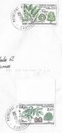 Timbres Sur Lettres 1984 N° 331-2 Nature Oblitération De Canillo Cote 4,50€ - Cartas