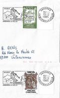 Timbres Sur Lettres 1985 N° 339-40 EUROPA Oblitération De Canillo Cote 19€ - Cartas