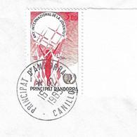 Timbres Sur Lettres 1985 N° 341 Jeunesse Oblitération De Canillo Cote 9€ - Cartas